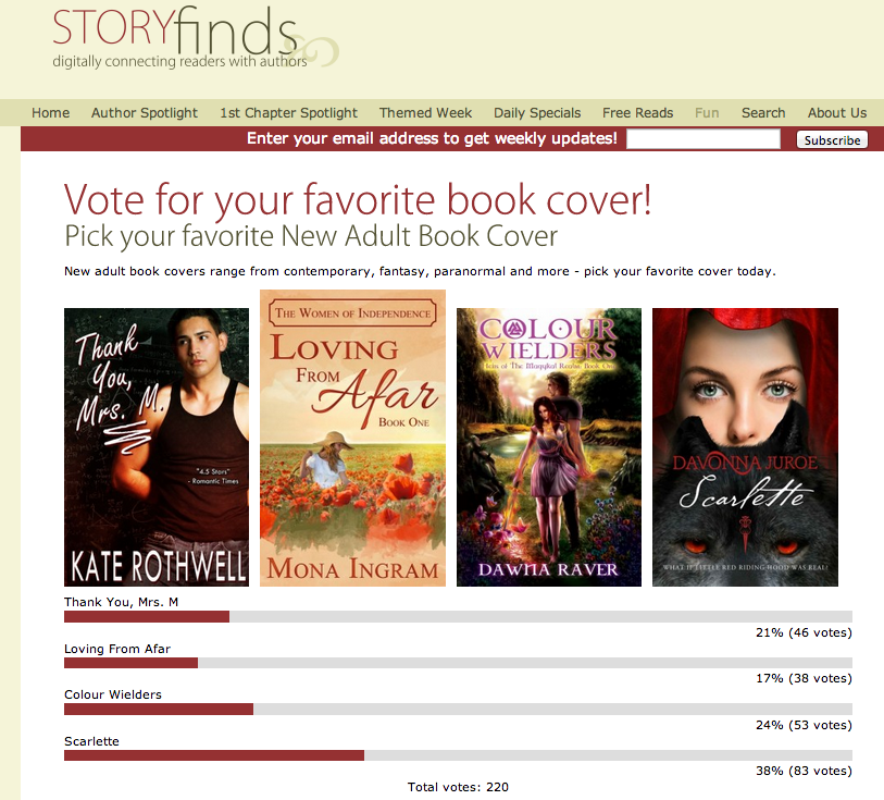 Scarlette Wins StoryFinds' New Adult Cover Contest!