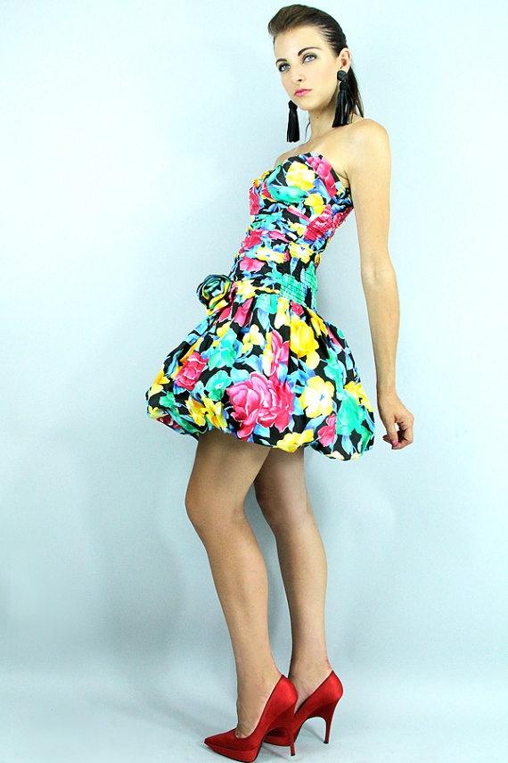 1980s Drop Waist Dress