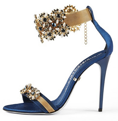 Gold And Blue Heels - Qu Heel