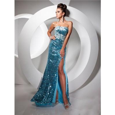 Blue Elsa Prom Dresses
