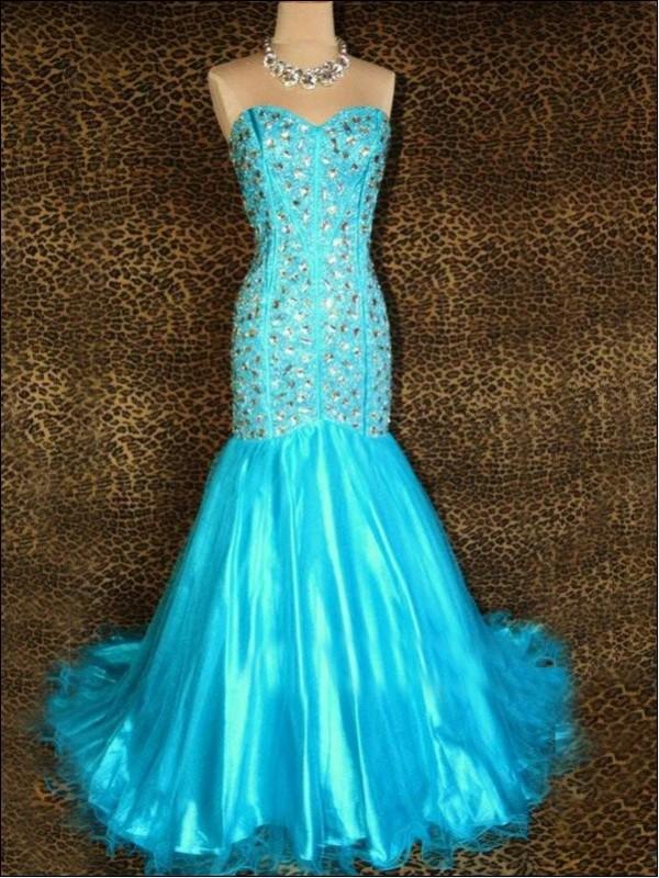 Elsa Blue Prom Dresses