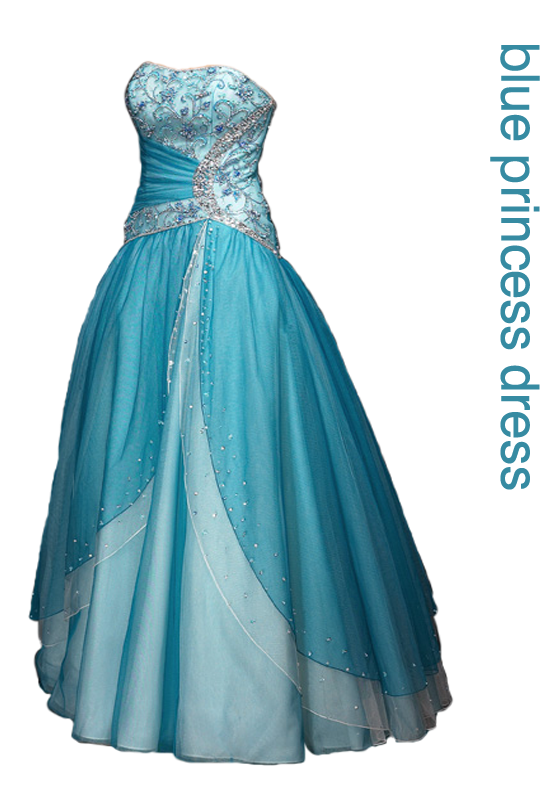 Frozen Blue Elsa Prom Dress