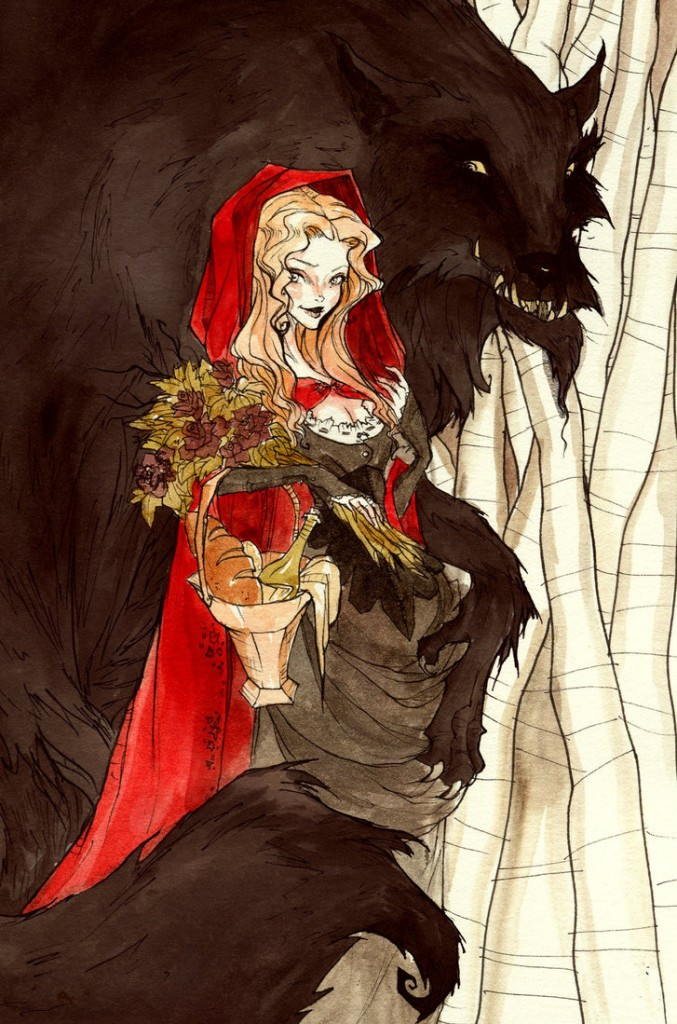 """Little Red and the Wolf"" © Abigail Larson"