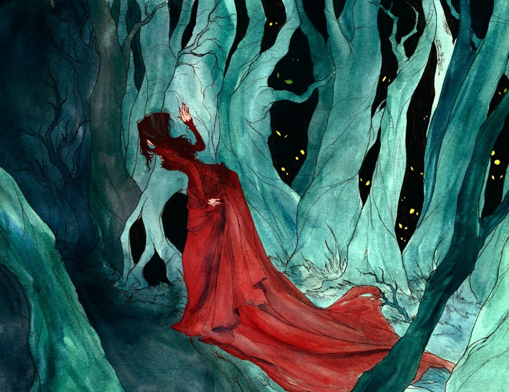 """Snow White in the Woods"" © Abigail Larson"