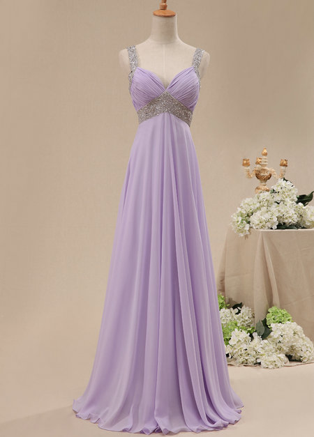 Mermaid Ariel Purple Column Dress