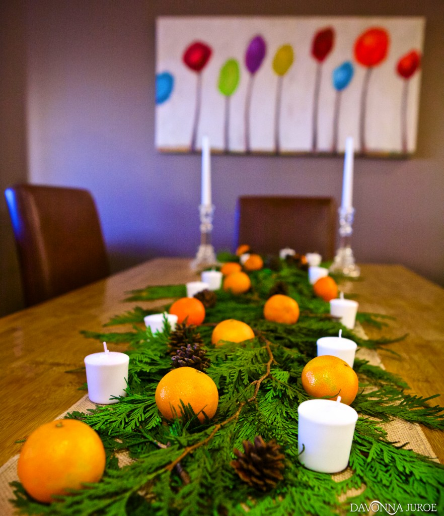Christmas Centerpiece with Oranges