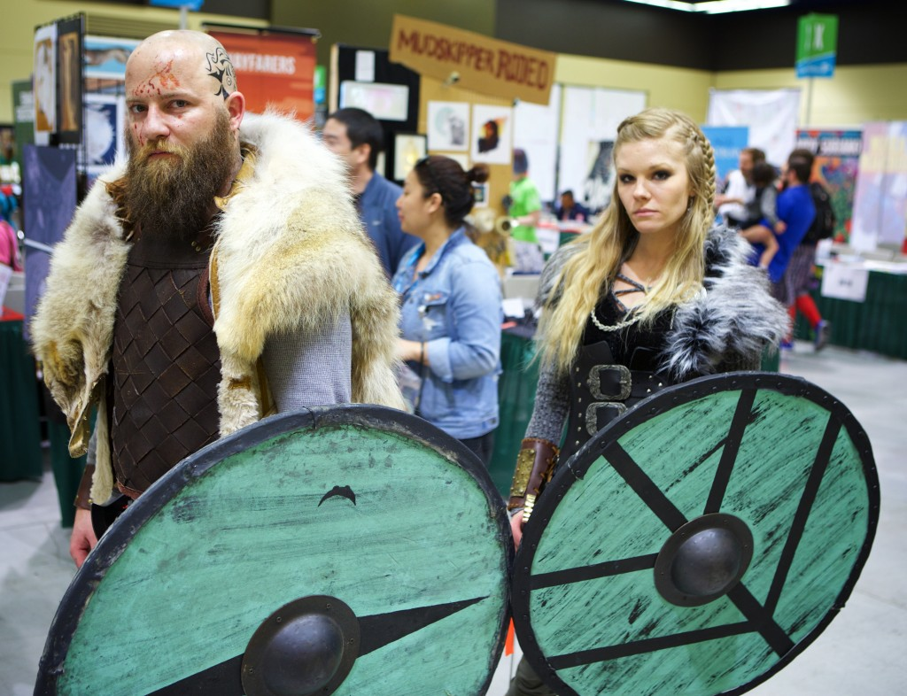 "Spot on ""Vikings"" cosplay!"